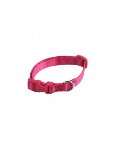 Collar ajustable nylon 10mm x 20-30cm rosa