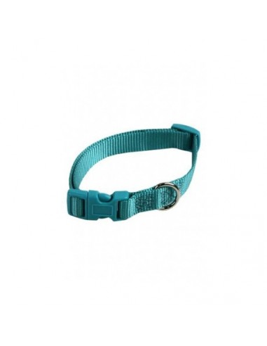 Collar ajustable nylon 10mm x 20-30cm turquesa