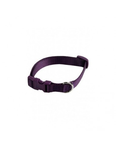 Collar ajustable nylon 10mm x 20-30cm violeta