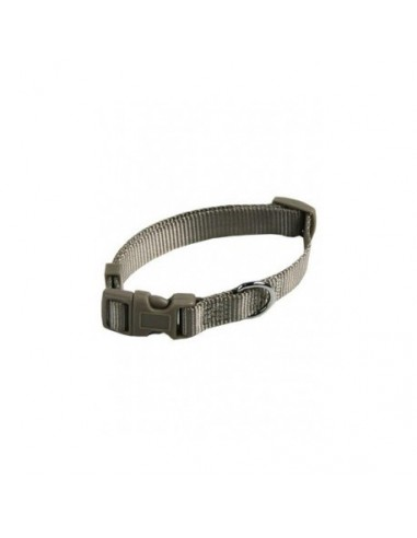 Collar ajustable nylon 15mm x 33-40cm gris