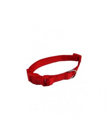 Collar ajustable nylon 15mm x 33-40cm rojo