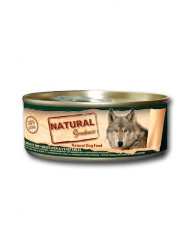 Natural Greatness pechuga de pollo, hígado de buey y verduras