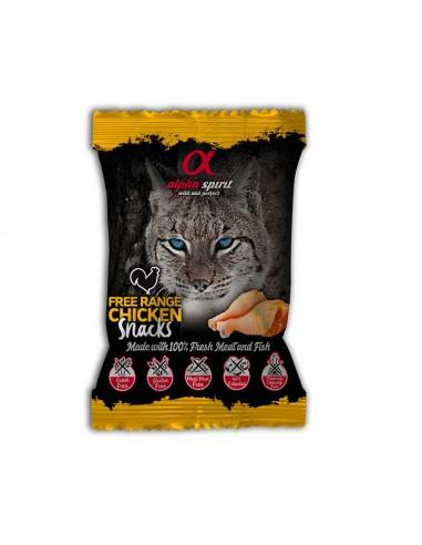 Alpha Spirit Snacks con ave de corral gato 24 bolsas x 50g
