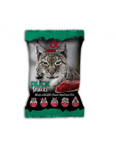 Alpha Spirit Snacks de Pato gato 24 bolsas x 50 g