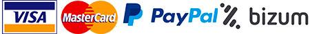 Pagos con Visa, Mastercard, Paypal y Bizum